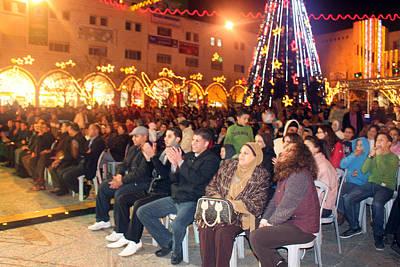 Crowds At 1st Nativity International Christmas Festival Poster by Munir Alawi