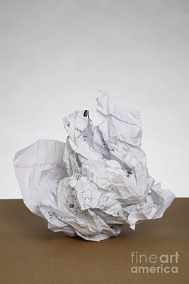 Crumpled Mistake Poster by Photo Researchers, Inc.