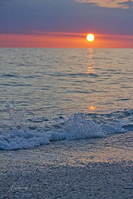Crystal Blue Waters At Sunset In Treasure Island Florida 2 Poster by Robin Lewis