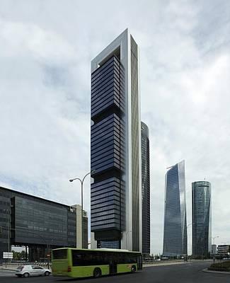 Ctba Skyscrapers, Madrid Poster by Carlos Dominguez
