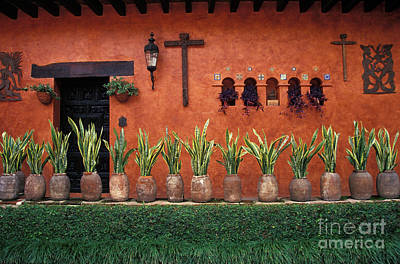Poster featuring the photograph Cuernavaca Wall Mexico by John  Mitchell