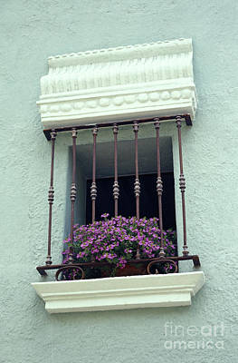 Poster featuring the photograph Cuernavaca Window  Mexico by John  Mitchell