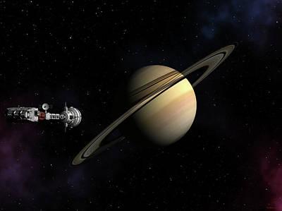 Cumberland Passing Saturn Poster by David Robinson