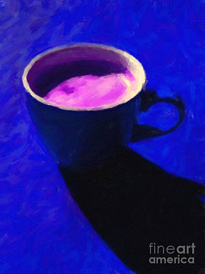 Cuppa Joe - Blue Poster by Wingsdomain Art and Photography