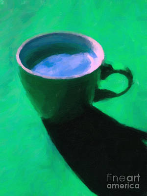 Cuppa Joe - Green Poster by Wingsdomain Art and Photography