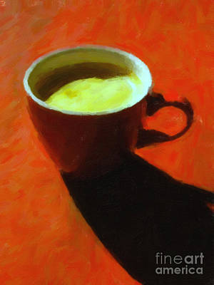 Cuppa Joe - Orange Poster by Wingsdomain Art and Photography