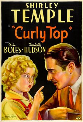 Curly Top, Shirley Temple, John Boles Poster by Everett