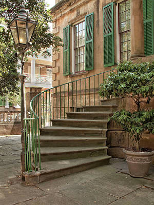 Curved Steps In Savannah Poster by Sandra Anderson