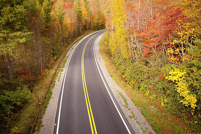 Curvy Road Blue Ridge Parkway, North Carolina Poster by Lightvision, LLC