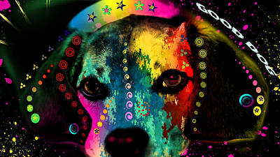 Cute Dog  Poster by Mark Ashkenazi
