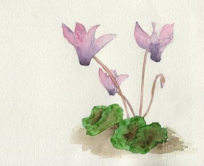 Poster featuring the painting Cyclamen by Annemeet Hasidi- van der Leij