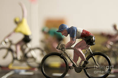 Cyclists. Figurines. Symbolic Image Tour De France Poster
