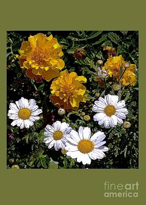 Daisies And Marigolds Poster by Dale   Ford
