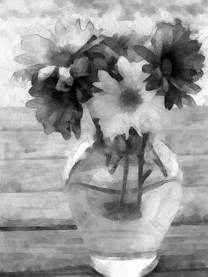 Daisy Crazy Bw Revisited Poster
