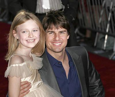 Dakota Fanning, Tom Cruise At Arrivals Poster