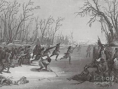 Dakota Sioux Playing Ball Game Poster