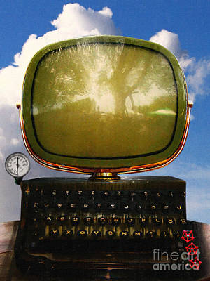 Dali.s Surreal Steampunk Personal Computer With Upgrades Poster