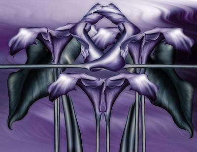 Dance Of The Purple Calla Lilies V Poster by Georgiana Romanovna