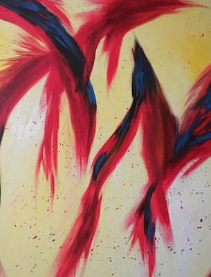 Dancing Birds Poster by Silvie Kendall