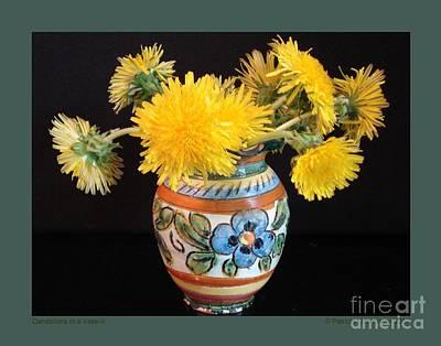 Dandelions In A Vase-ii Poster