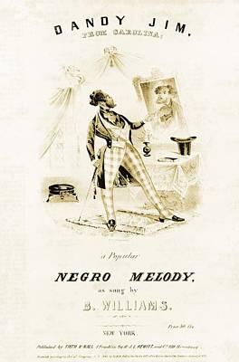 Dandy Jim, From Carolina, A Free Black Poster by Everett