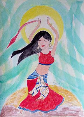 Danse Du Ventre Poster by Sonali Gangane