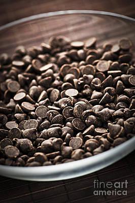 Dark Chocolate Chips Poster