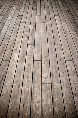Dark Ship Deck Used For Background Poster