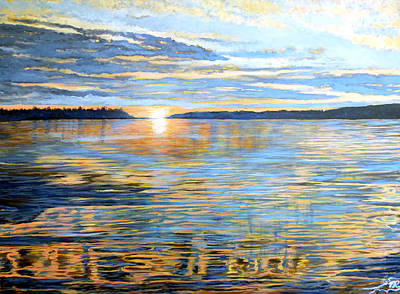 Poster featuring the painting Davidson Quebec by Tom Roderick