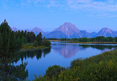 Dawn At Oxbow Bend Poster