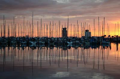 Dawn At The Marina Poster