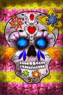 Day Of The Dead - Death Mask Poster by Mike Savad