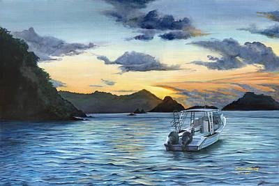 Daybreak At Batteaux Bay Poster