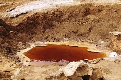 Dead Sea Sinkhole Poster by Photostock-israel