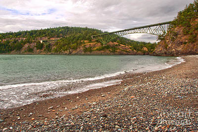 Poster featuring the photograph Deception Pass Washington by Artist and Photographer Laura Wrede