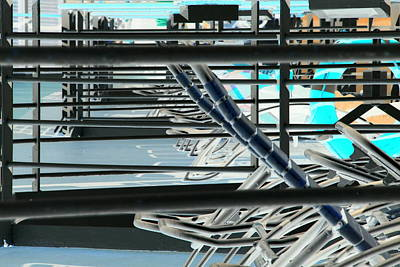 Poster featuring the photograph Deck Chairs by John Schneider
