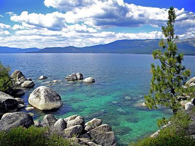 Deep Waters Lake Tahoe Poster by Frank Wilson