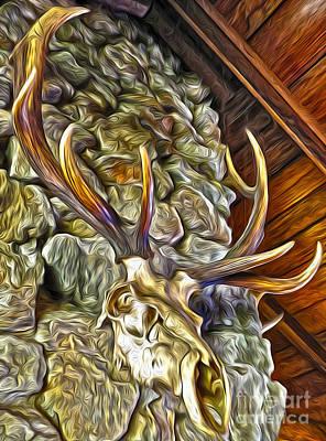 Deer Skull Poster by Gregory Dyer
