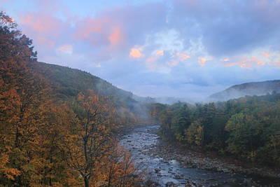Deerfield River Mohawk Trail Autumn Evening Poster