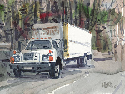 Delivery Truck Two Poster by Donald Maier