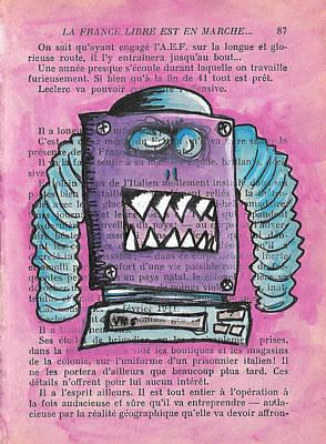 Demon Vhs Bot Poster by Jera Sky