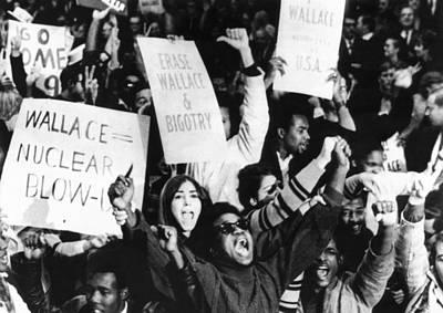 Demonstrators Against American Poster by Everett
