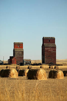 Derelict Grain Elevators Stand Poster