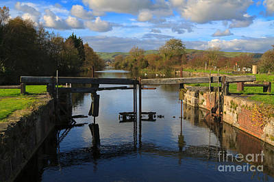Derelict Lock Gate On The Ulverston Canal Poster by Louise Heusinkveld