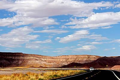 Desert Road Poster by Cedric Darrigrand