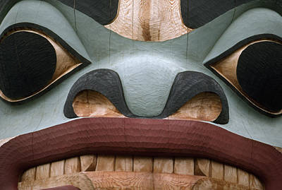 Detail Of A Totem Pole Poster