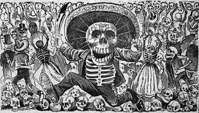 Detail Of Death From Calaveras Del Poster by Everett