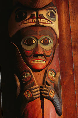 Detail Of House Post In The Totem Bight Poster