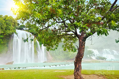 Detian And Ban Gioc Waterfall Poster by MotHaiBaPhoto Prints