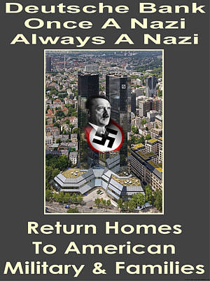 Deutsche Bank Return Homes To Americans Poster by Terry Lynch